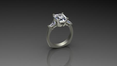 Custom 3 Stone Diamond Ring