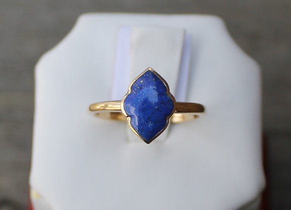 14K Yellow Gold Lapis Lazuli Ring