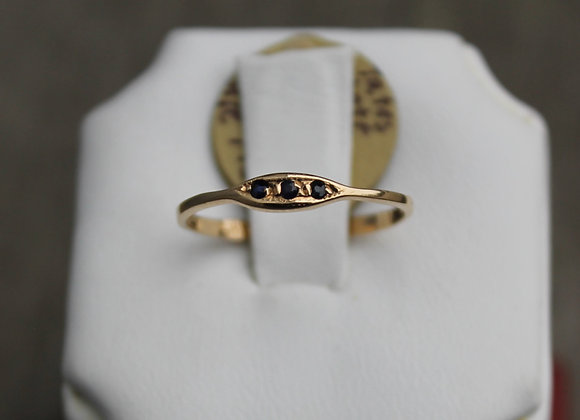 14K Yellow Gold Sapphire Stacking Ring