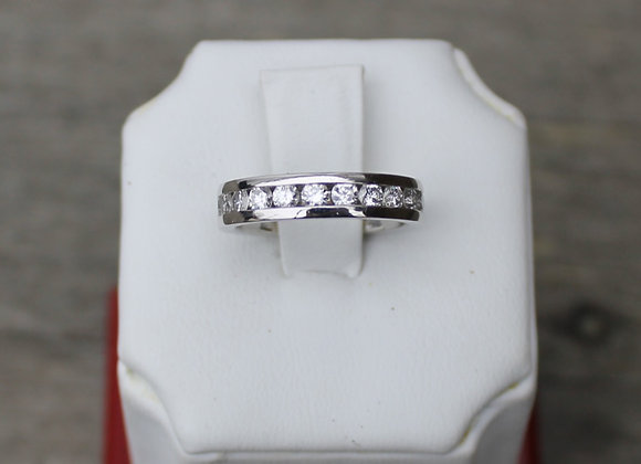 Platinum 11 Stone Diamond Band