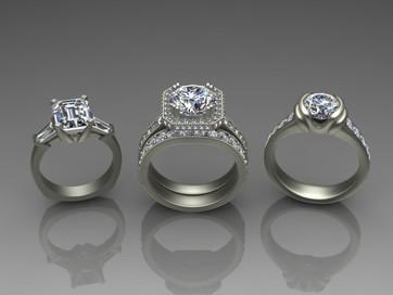 Diamond Ring Trio