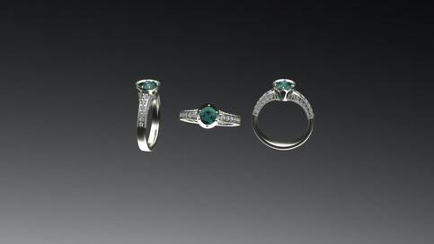 Custom Non Traditional Ring Design