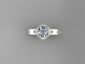 Modern Full Bezel Ring Design