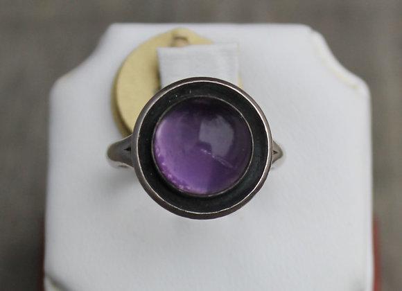 Sterling Silver Amethyst Shadow Box Ring
