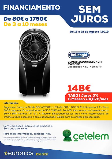 Cetelem _ Climatizador Delonghi EV250BK.