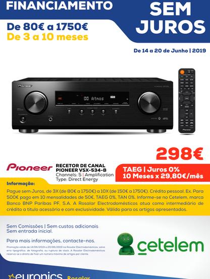 Cetelem _ Recetor de Canal PIONEER VSX-5