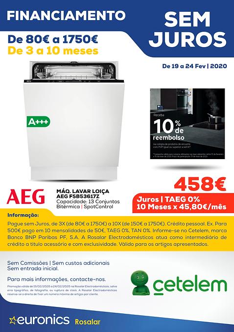 Cetelem _ Maq. Lavar Loica AEG FSB53617Z