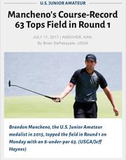 Brandon Mancheno Smashes Course-Record at U.S. Junior Amateur