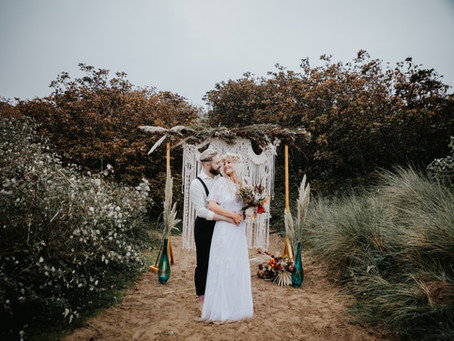 Annie & Jamie | Boho Beach Elopement Wedding | Formby Liverpool | Dani Louise Photography |