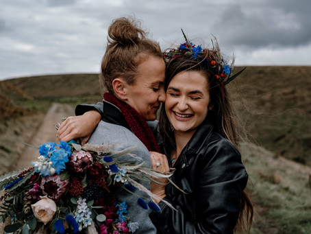 Wild Windy Elopement | Manchester | North West | Dani Louise Photographer