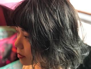 暗い髪からグレイッシュにチェンジ✨