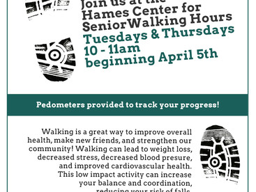 Walk this way! Senior walking hours at the Hames Center