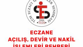 ECZANE AÇILIŞ, DEVİR VE NAKİL İŞLEMLERİ REHBERİ