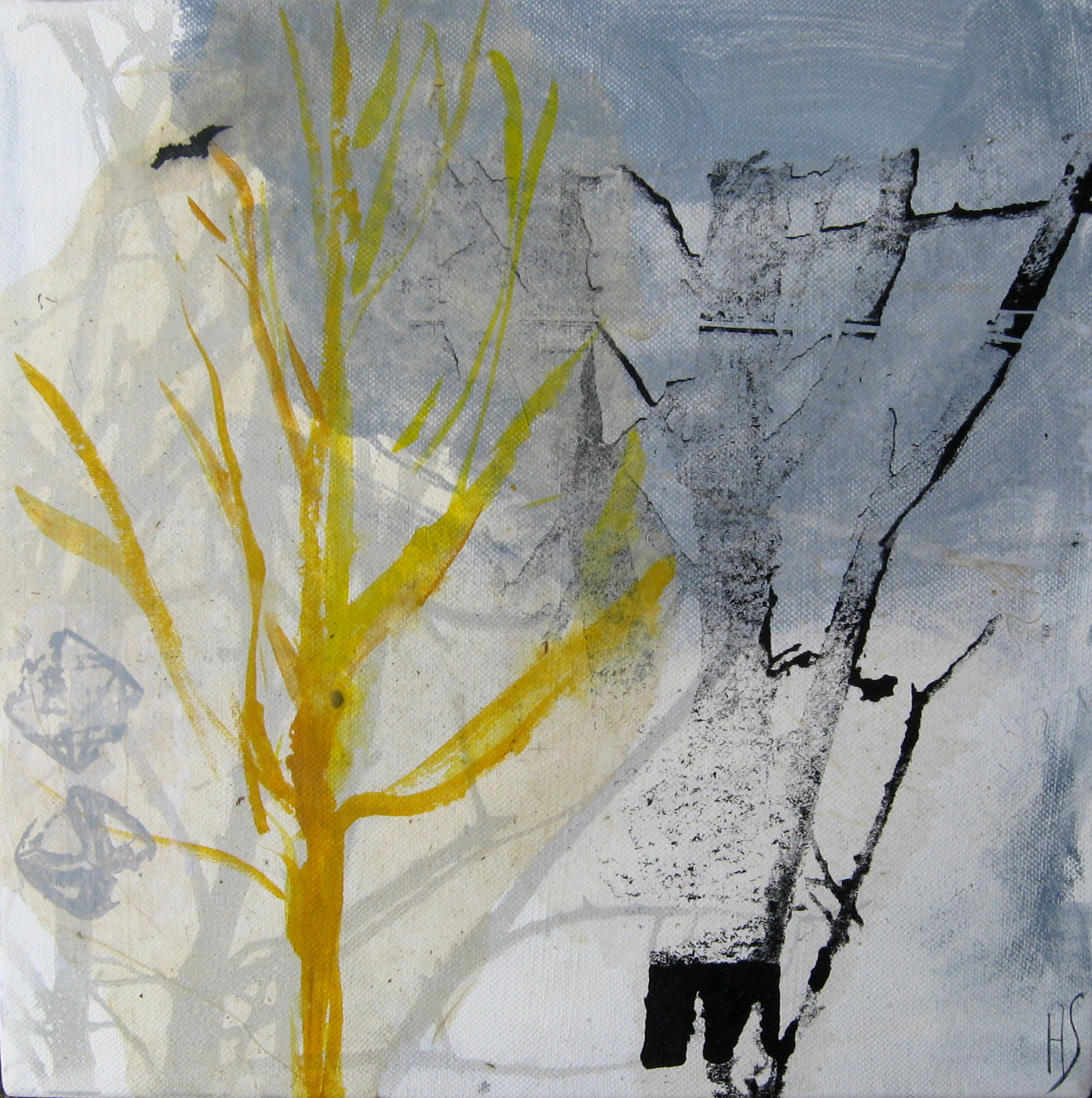 YELLOW TREE 30x30cm