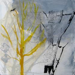 YELLOW TREE 30x30cm