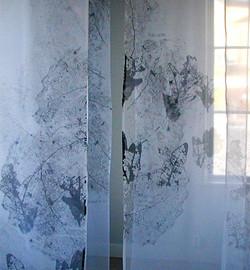 Silkscreen on thin fabric, installation