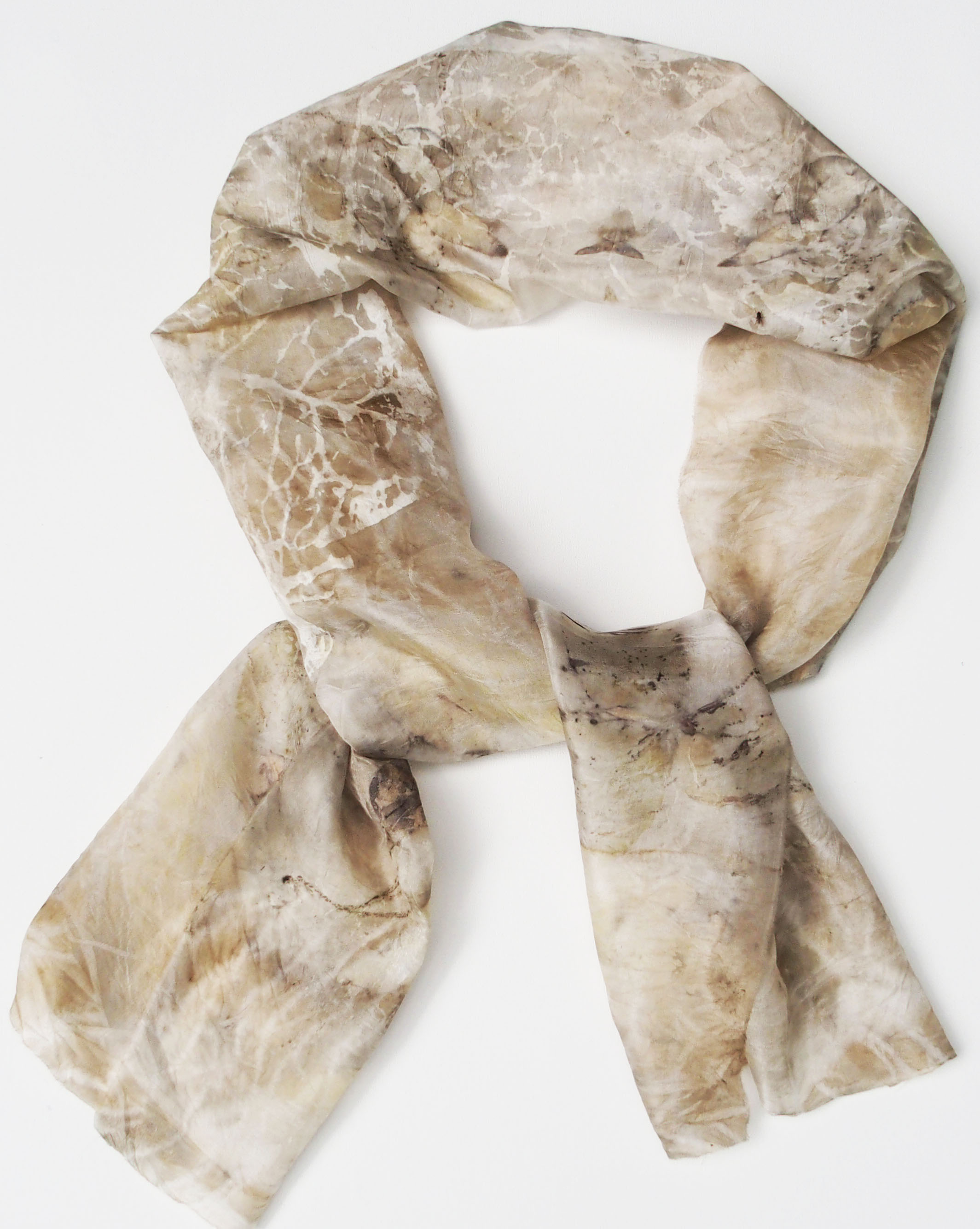 Nr 32 Eco dyed silkscarf