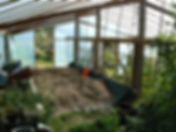 greenhouse, permaculture garden