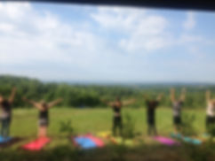 yoga hill sky