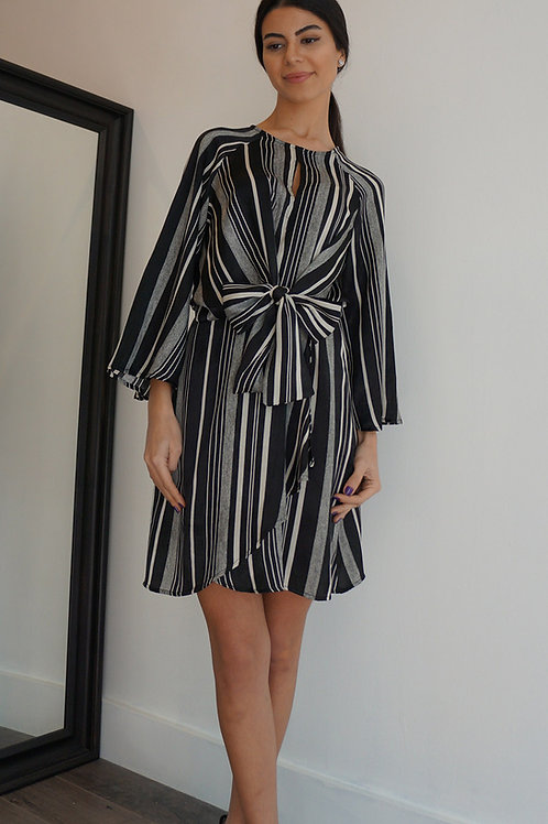 Stripe Ribbon Dress