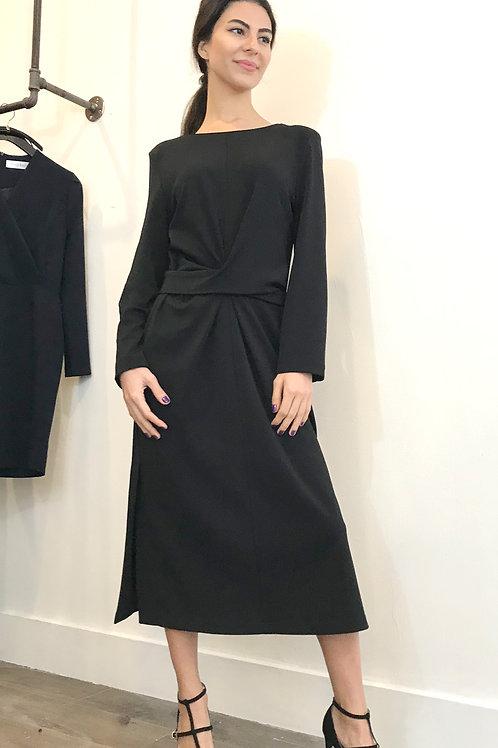 Belt twisted Midi Dress