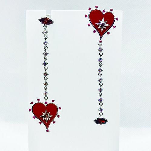 Unbalanced Heart Earrings