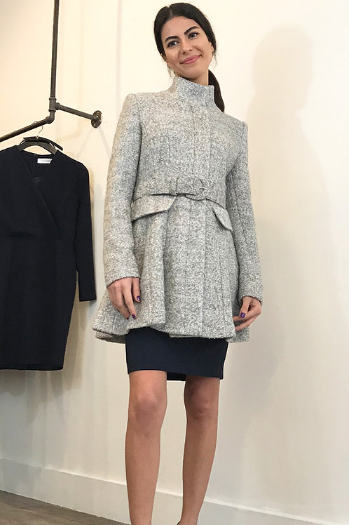 Wool Fitted Belt Coat
