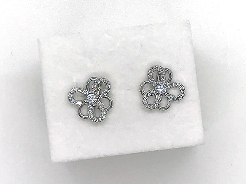 Flower Pierced Earrings