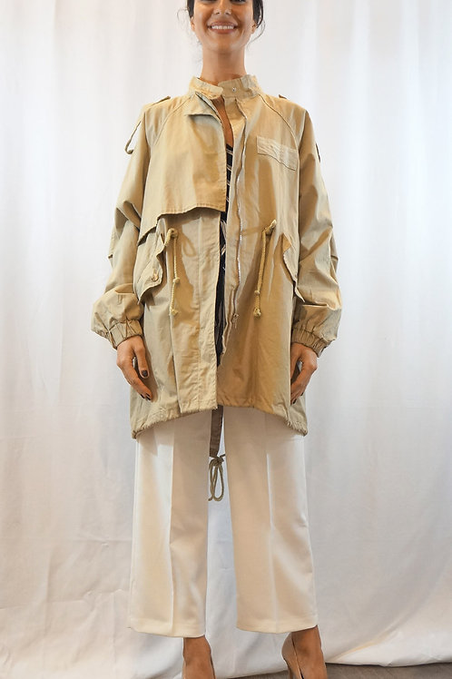 Beige Trench Jacket