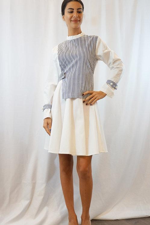 Unbalanced Vest Shirt Dress