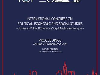 ICPESS 2017 Proceedings Volume 2: Economic Studies - Bildiriler Kitabı Cilt 2: Ekonomik Araştırmalar
