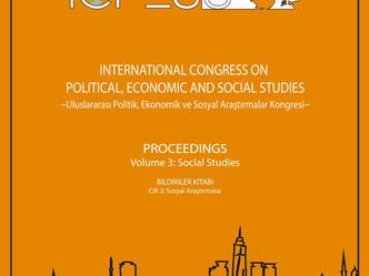ICPESS 2017 Proceedings Volume 3: Social Studies - Bildiriler Kitabı Cilt 3: Sosyal Araştırmalar