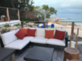 Outdoor sectional made by Miami Upholstery and Fabrics
