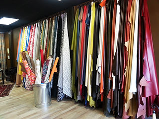 Large selection of Italian and American leathers hides