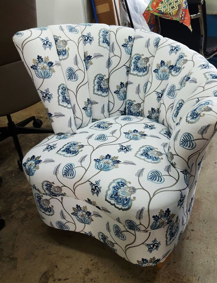 Accent Chair Indonesian Fabric