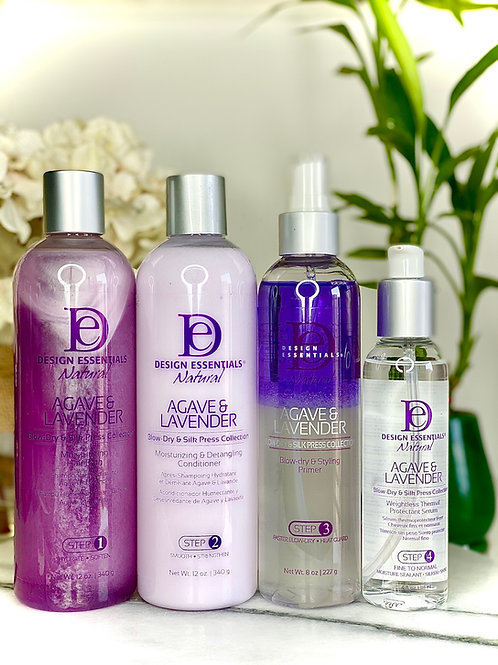 Agave & Lavender Blow Dry and Silk Press Kit