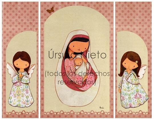 Triptico de la Virgen en rosa (interior)
