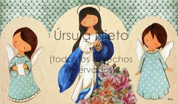 Tríptico de la Inmaculada (azul)