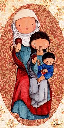 Santa Ana, la Virgen y el Niño Jesús