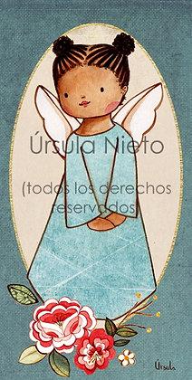 Angelita azul flores 02