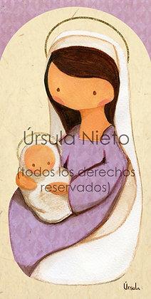Virgencita lila 01