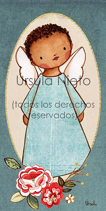 Angelito azul flores 01