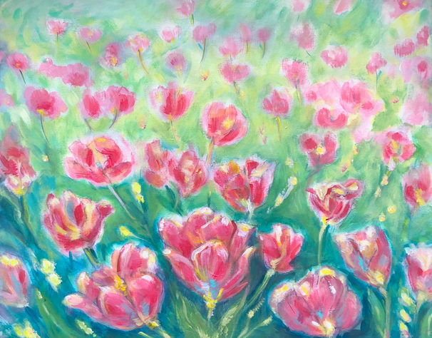 Cotton Candy, Pink Tulips