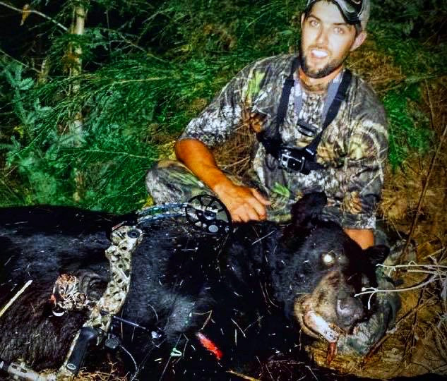 Justin's state record archery black bear