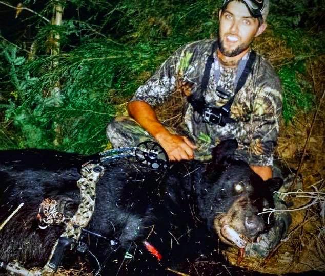 Justin's state record archery black bear