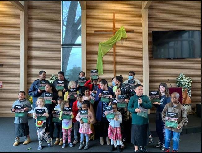 Sunday School kids celebrate Tongan lang