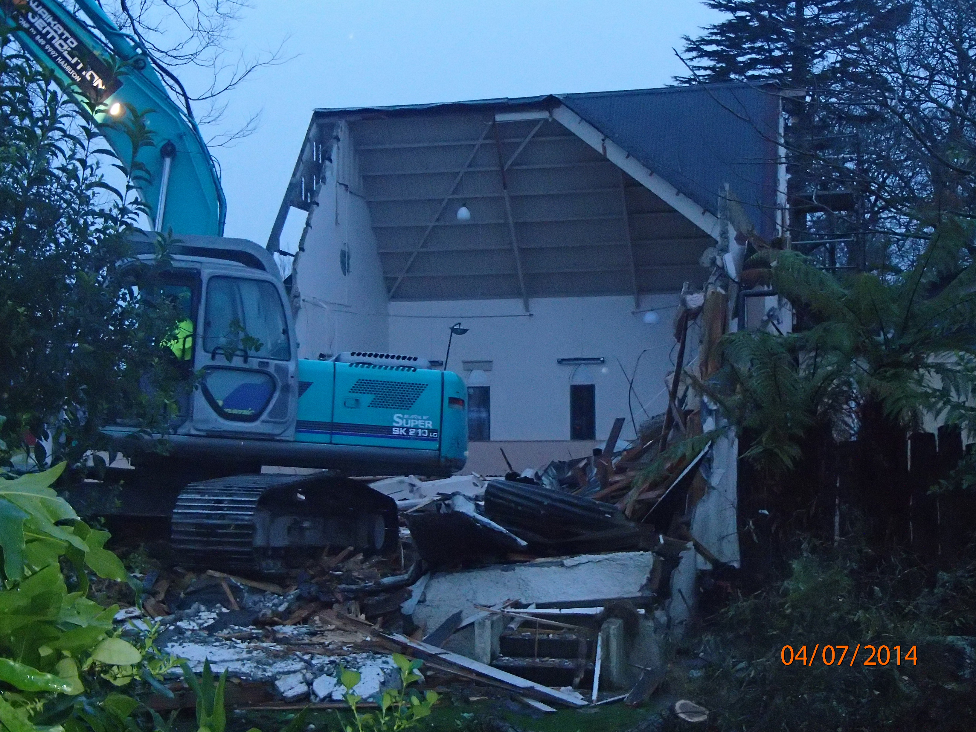 Demolition morning 6