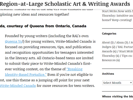 We are now featured by the Scholastic Art & Writing Awards!