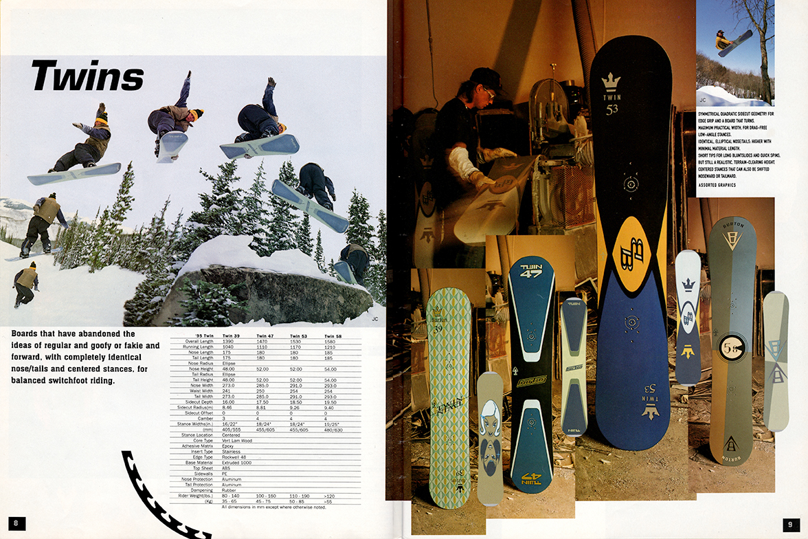 Burton Industry Catalog Twins Full Flat