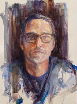 "Jason •15"" x 10"" Watercolor on Paper"